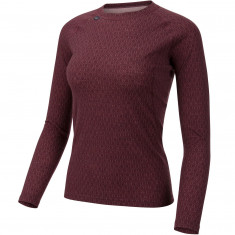 Ulvang 50Fifty 2.0 Round Neck, Dame, Fig/Sweet Pink