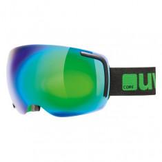 Uvex Big 40 Skibrille, Full mirror, Black/Green