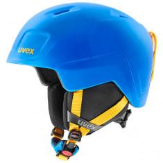 Uvex Heyya Pro, skihjelm, junior, blå/gul