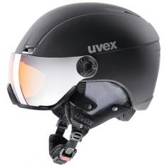 Uvex hlmt 400, skihjelm med visir, sort