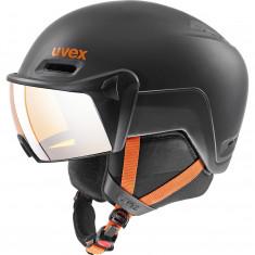 Uvex hlmt 600 skihjelm med visir, sort/orange