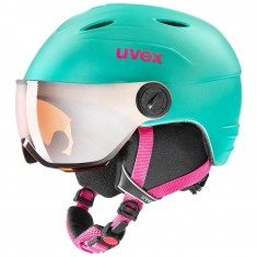 Uvex Junior pro Skihjelm med Visir, Mint Mat