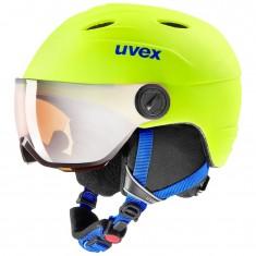 Uvex Junior pro Skihjelm med Visir, Neon Yellow Mat