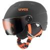 Uvex junior pro, skihjelm med visir, gul